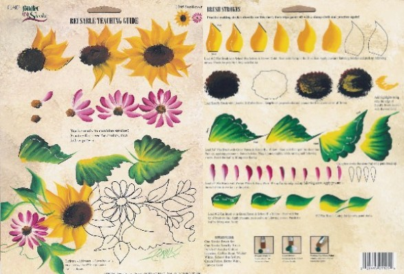 One Stroke Painting Sunflowers http://www.onestroke.net/Supplies/RTGs/1105_Sunflowers/1105_sunflowers.html